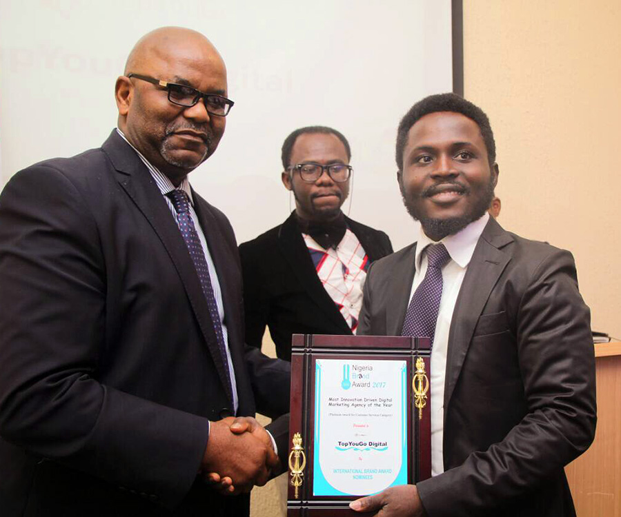TopYouGo Wins The Most Innovation Driven Digital Marketing Agency In Nigeria 2017