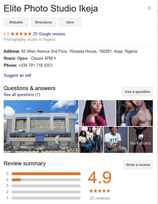 Elite Studio Ikeja - Customer Reviews